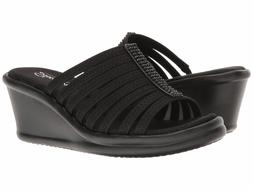 Women's 8.5 SKECHERS RUMBLERS HOT SHOT Black MEMORY FOAM Wed