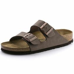 Birkenstock Women's Arizona 2-Strap Birkibuc Leather Regular