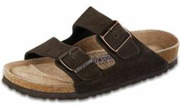 Birkenstock Women's Arizona Mocha Suede Soft Footbed Sandals