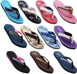 Norty Women's Beach, Pool, Everyday Flip Flop Thong Sandal -