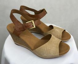 Women's Clarks Collection Cork Wedge Sandals Size 7, New