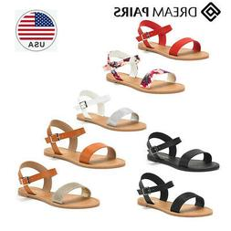 DREAM PAIRS Women's Cute Open Toes  Ankle Strap Flexible Sum