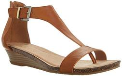 Kenneth Cole REACTION Women's Gal Wedge Sandal, Toffee, 8 M