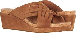 UGG Women's Lilah Wedge Sandal, Chestnut, 8 M US