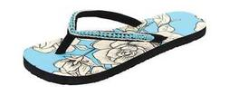 Western Chief Women's Marie Flip Flop Turquoise Rose Synthet