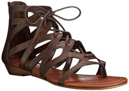 Rampage Women's Santini Cutout Lace-Up Open Toe Ankle Strap
