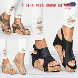 2026b94e5185 Women Sandals Summer Wedge Platform Heel.