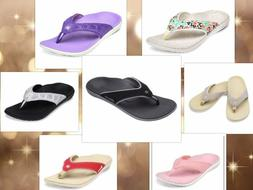 womens spenco arch support sandals flip flop  heel pain