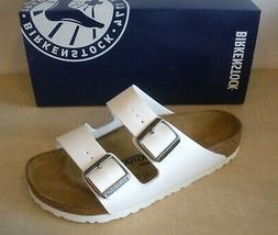 BIRKENSTOCK WOMENS ARIZONA SANDALS - BIRKO-FLOR- WHITE- STYL