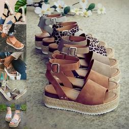 Womens Casual Sandals Slippers Shoes Summer Ladies Wedges Sh