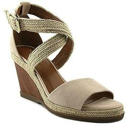 H Halston Womens Jane Suede Espadrille Open Toe Wedge Sandal