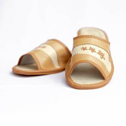 Womens Ladies Slippers Sandals Home Shoes Natural Leather Ka