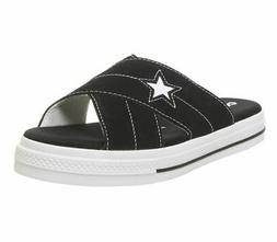 Womens Converse Converse One Star Sandals Black Egret White