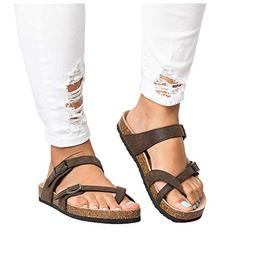 womens thong flat sandals gladiator buckle strappy